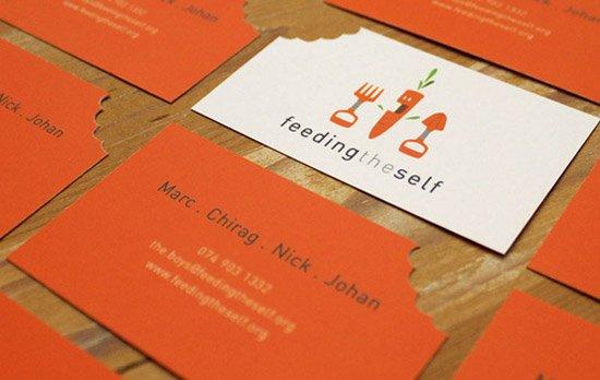 comunicação visual criativa cartão de visita