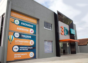 fachada em acm 3d comunicação