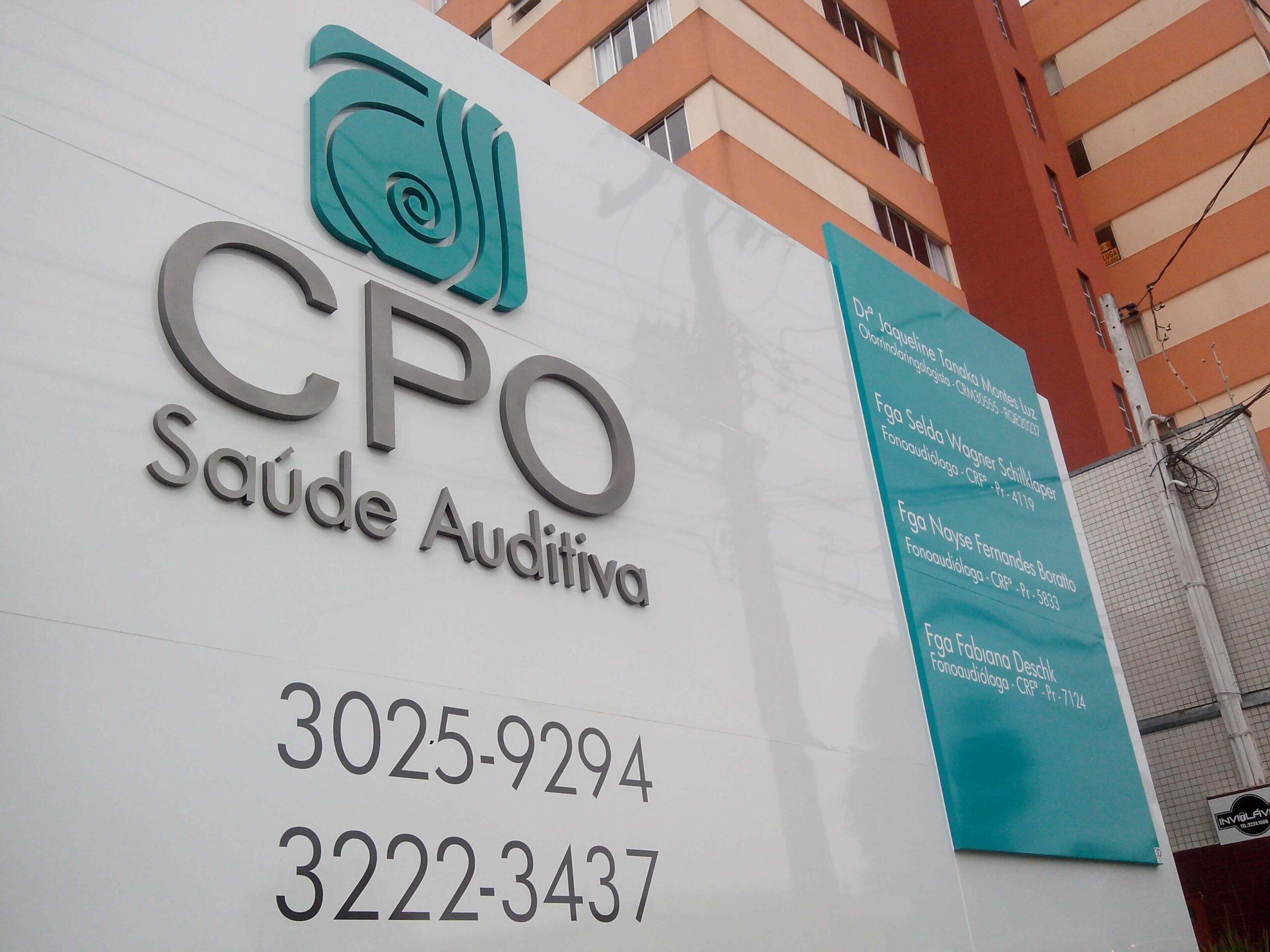fachada em acm CPO Via 3d comunicação